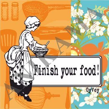 תמונה של Finish your food Magnet
