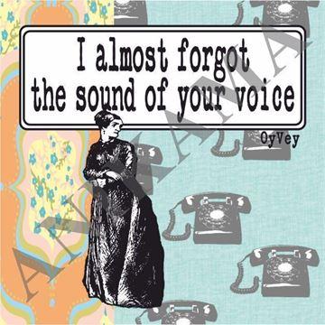 תמונה של I almost forgot the sound of your voice Magnet