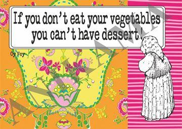 תמונה של If you don't eat your vegetables you can't have desert Placemat