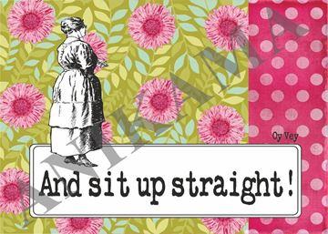 תמונה של And sit up straight Placemat