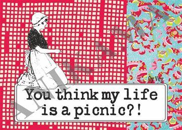 תמונה של You think my life is a picnic Placemat