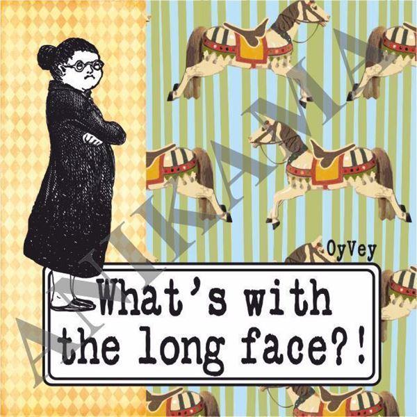 תמונה של What's with the long face Magnet