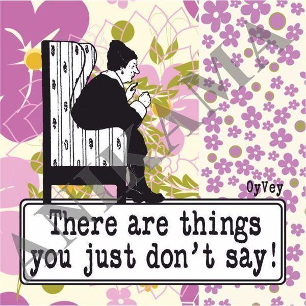 תמונה של There are things you just don't say Magnet