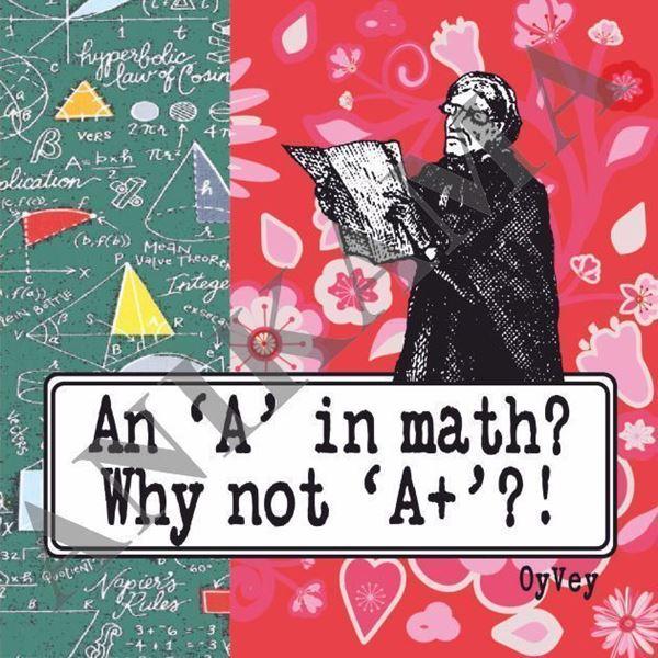 תמונה של An a in math why not A plus Magnet