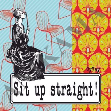 תמונה של Sit up straight Magnet