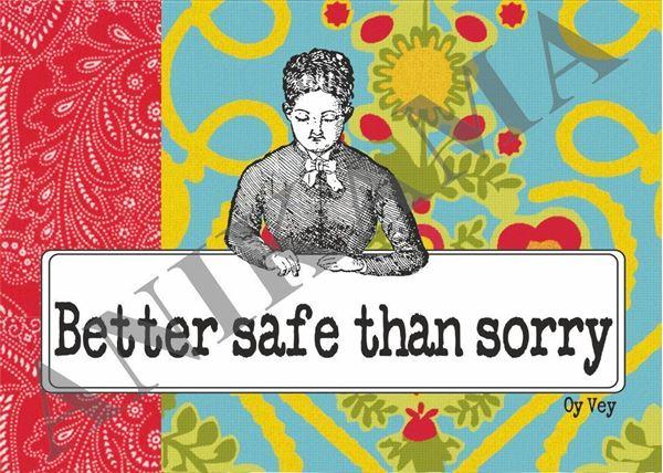 תמונה של Better safe than sorry Placemat