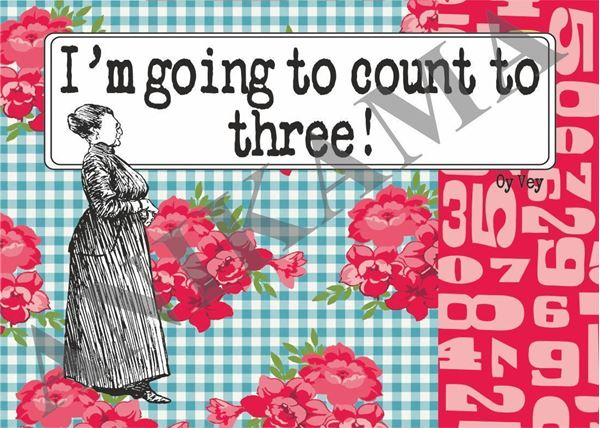 תמונה של I'm going to count to three Placemat