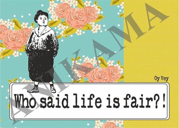 תמונה של Who said life is fair Placemat