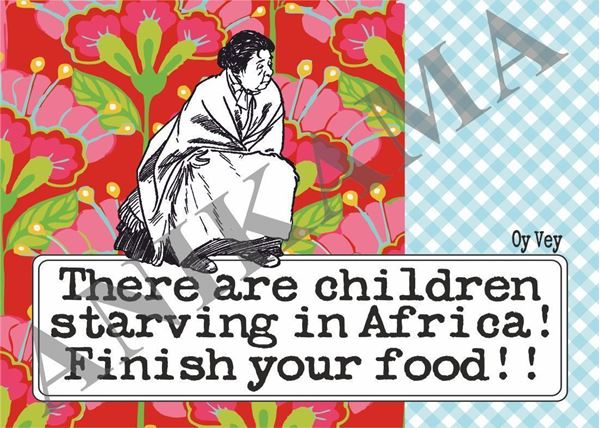 תמונה של There are children starving in Africa finish your food Placemat