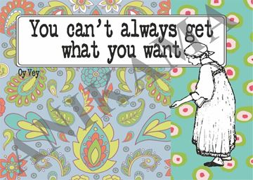 תמונה של You can't always get what you want Placemat