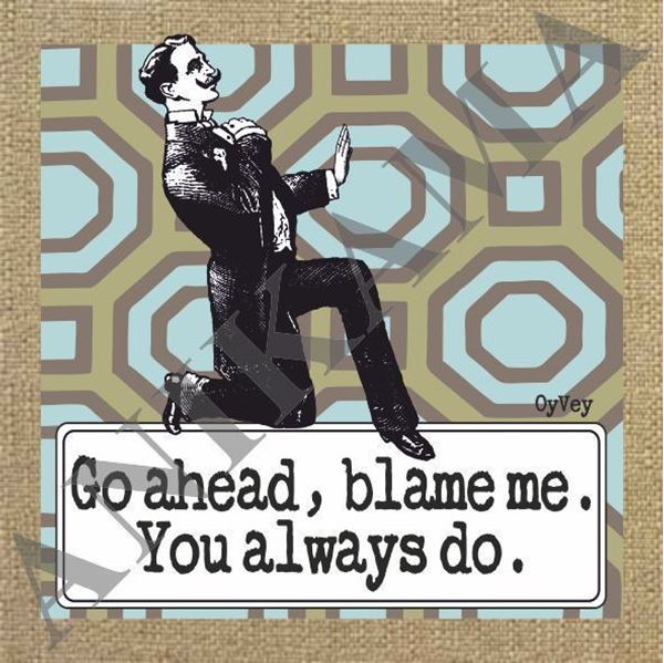 תמונה של Go ahead blame me you always do Men t-shirt