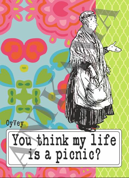תמונה של You think my life is a picnic Passport Cover